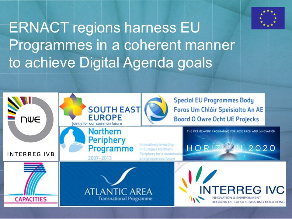 ERNACT regions harness EU Programmes in a coherent manner to achieve Digital Agenda goals