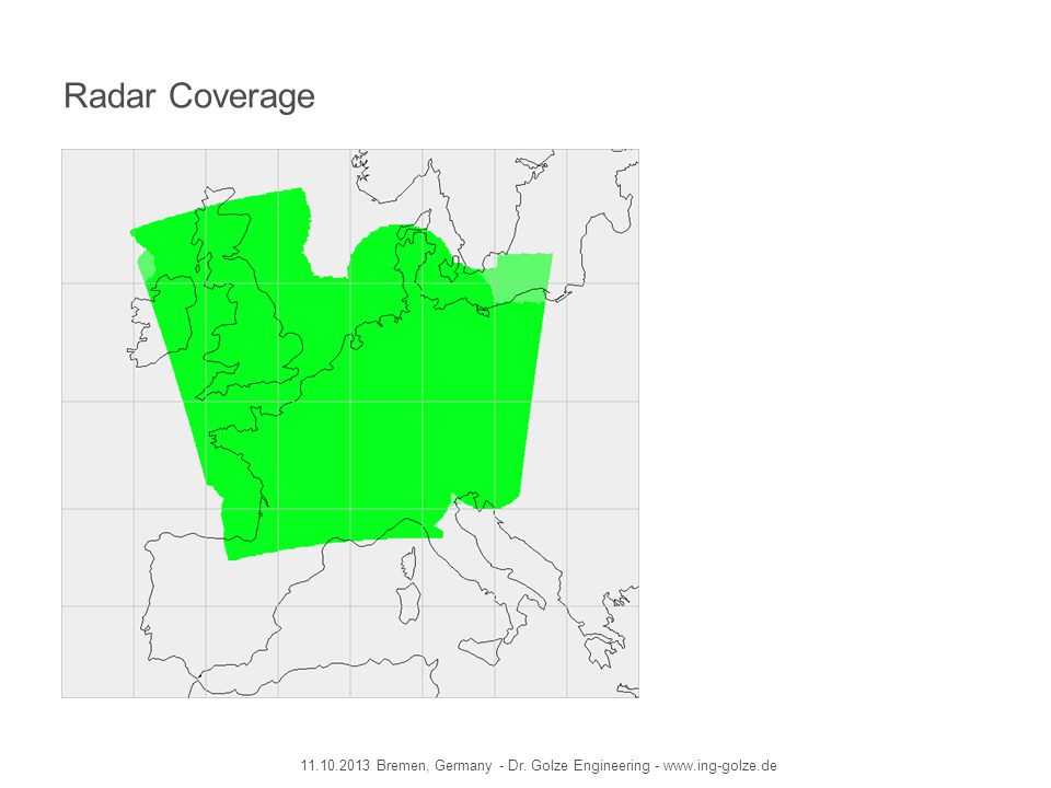 Radar Coverage 11.10.2013 Bremen, Germany - Dr. Golze Engineering - www.ing-golze.de