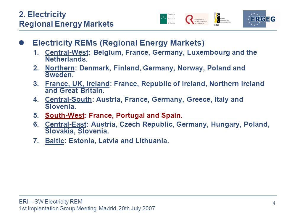 4 ERI – SW Electricity REM 1st Implentation Group Meeting.