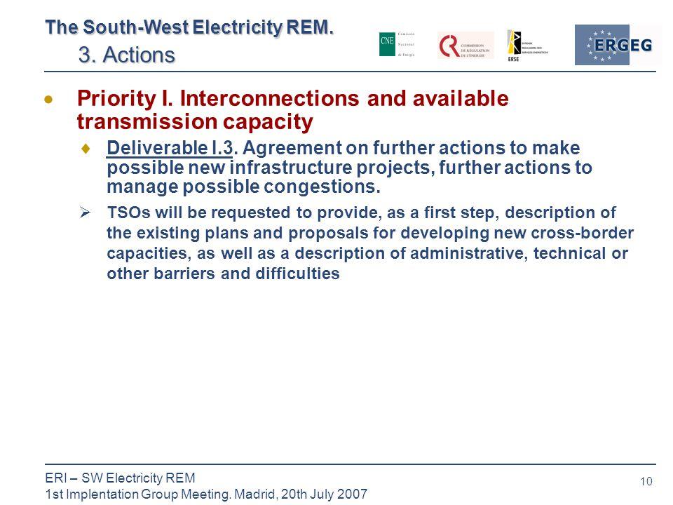 10 ERI – SW Electricity REM 1st Implentation Group Meeting.