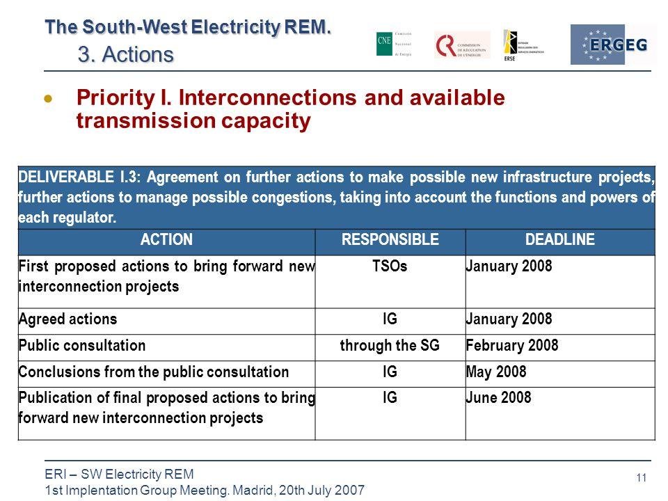11 ERI – SW Electricity REM 1st Implentation Group Meeting.