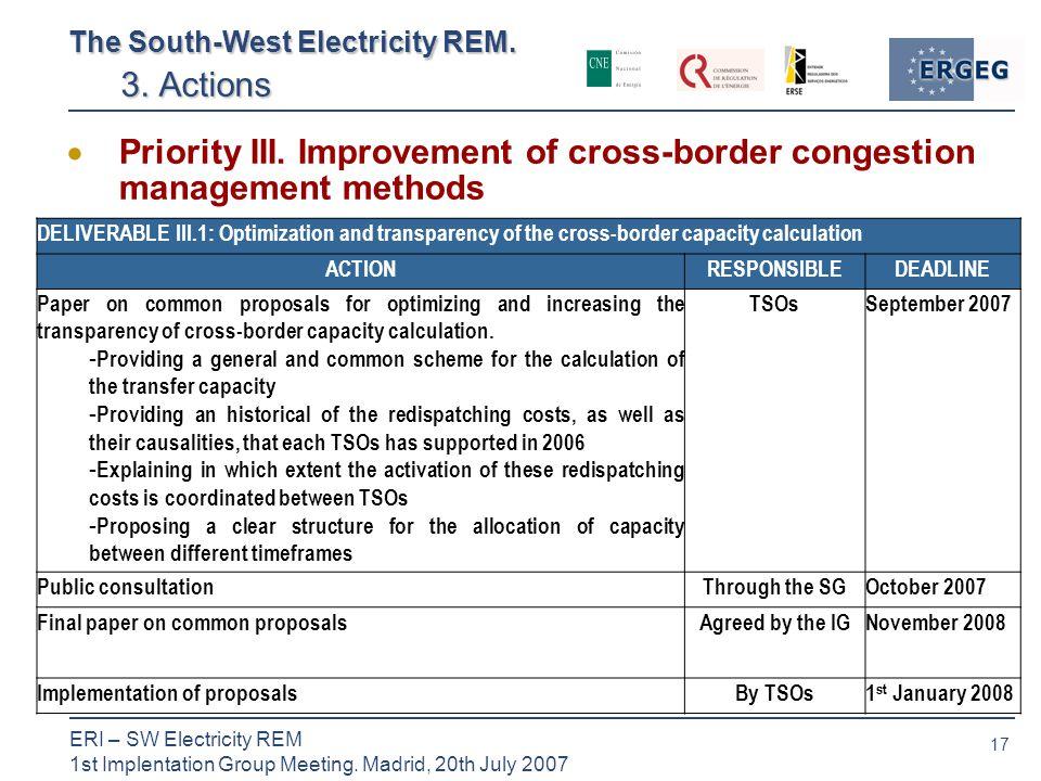 17 ERI – SW Electricity REM 1st Implentation Group Meeting.