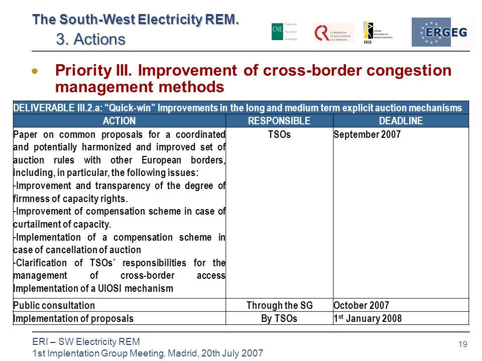 19 ERI – SW Electricity REM 1st Implentation Group Meeting.