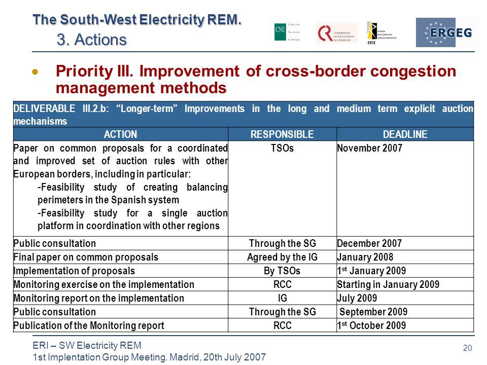 20 ERI – SW Electricity REM 1st Implentation Group Meeting.