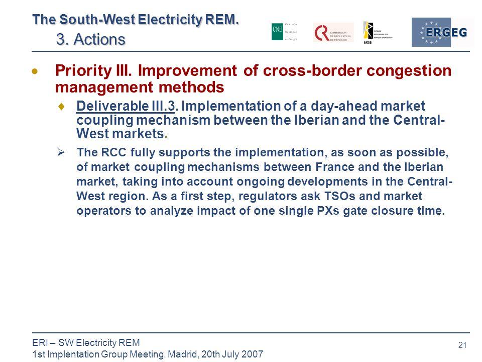 21 ERI – SW Electricity REM 1st Implentation Group Meeting.