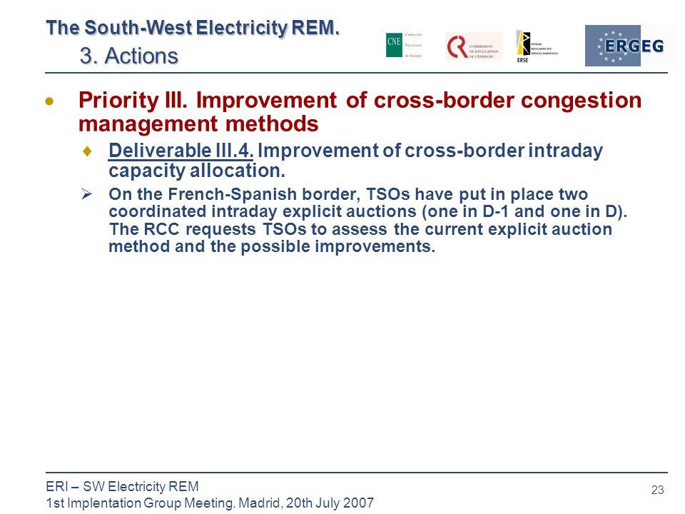 23 ERI – SW Electricity REM 1st Implentation Group Meeting.