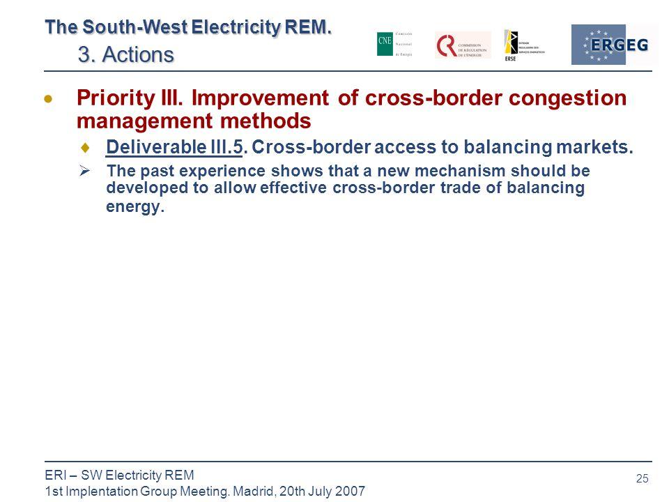 25 ERI – SW Electricity REM 1st Implentation Group Meeting.