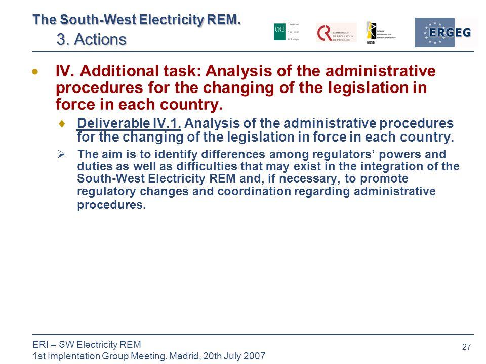 27 ERI – SW Electricity REM 1st Implentation Group Meeting.