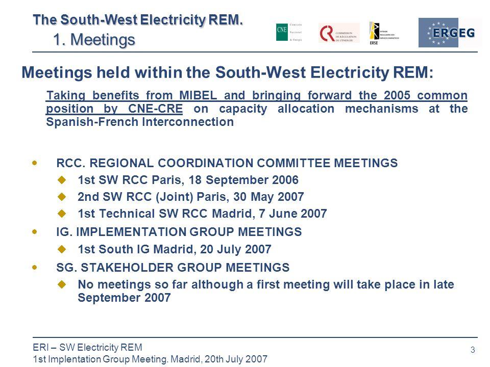3 ERI – SW Electricity REM 1st Implentation Group Meeting.