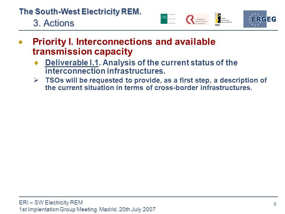 6 ERI – SW Electricity REM 1st Implentation Group Meeting.