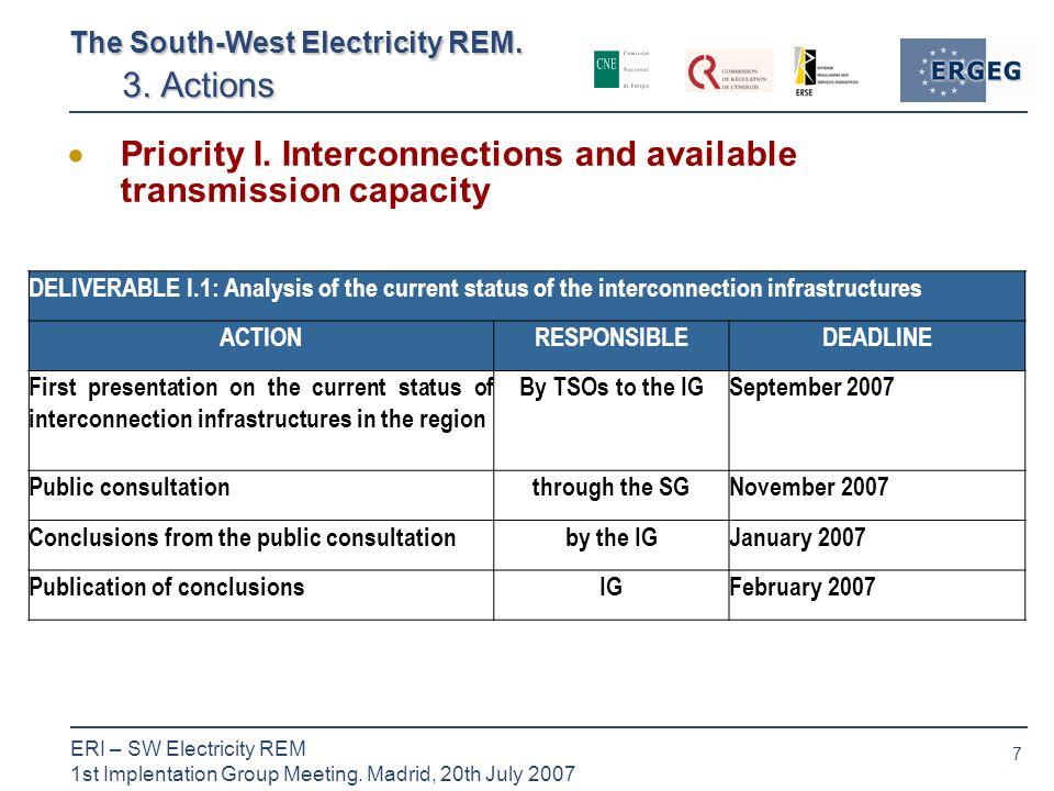 7 ERI – SW Electricity REM 1st Implentation Group Meeting.