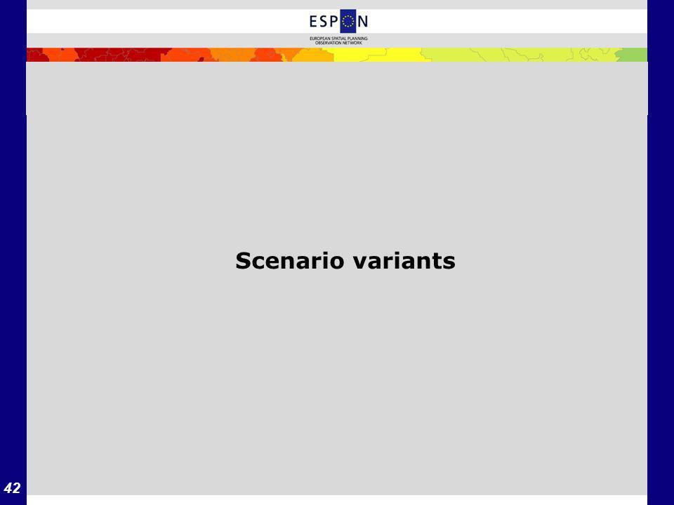 42 Scenario variants