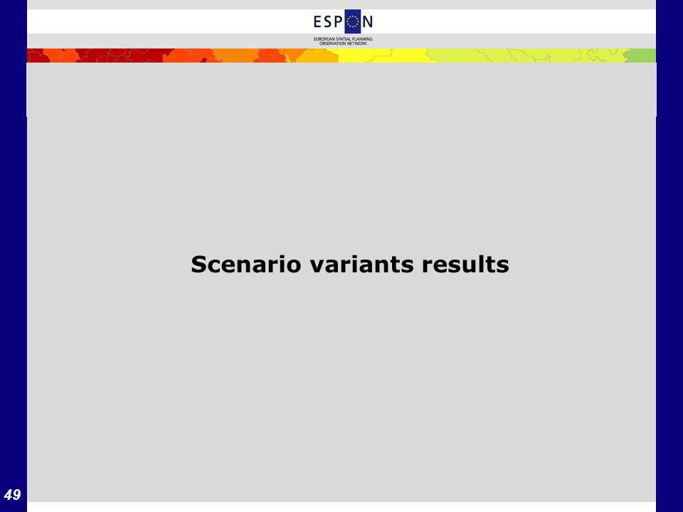 49 Scenario variants results