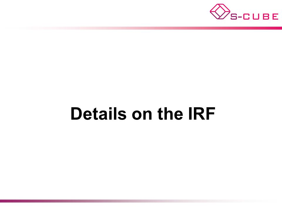Details on the IRF