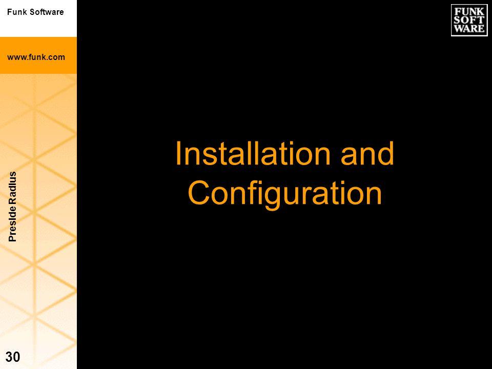 Funk Software www.funk.com Preside Radius 30 Installation and Configuration