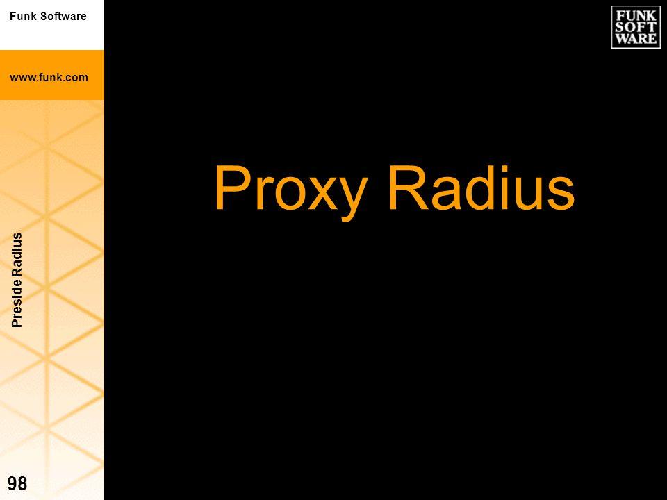 Funk Software www.funk.com Preside Radius 98 Proxy Radius