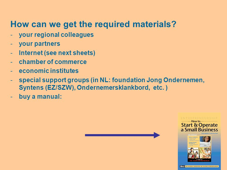How can we get the required materials.