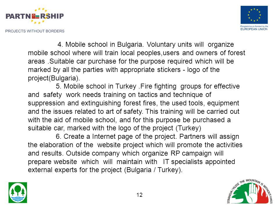 4. Mobile school in Bulgaria.