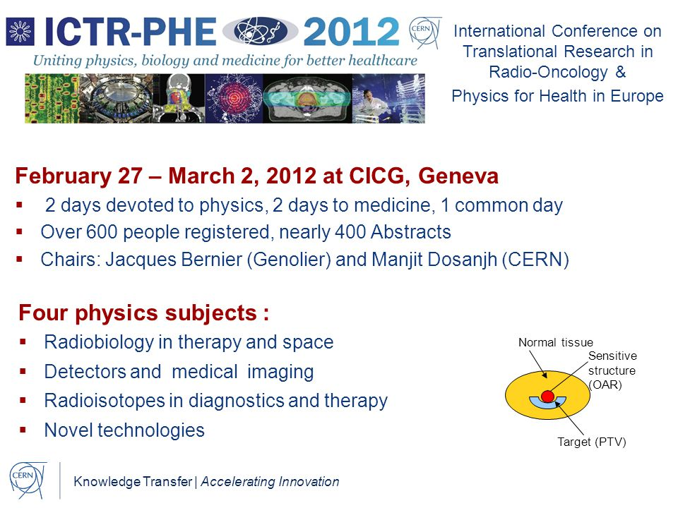Knowledge Transfer | Accelerating Innovation International Conference on Translational Research in Radio-Oncology & Physics for Health in Europe Febru