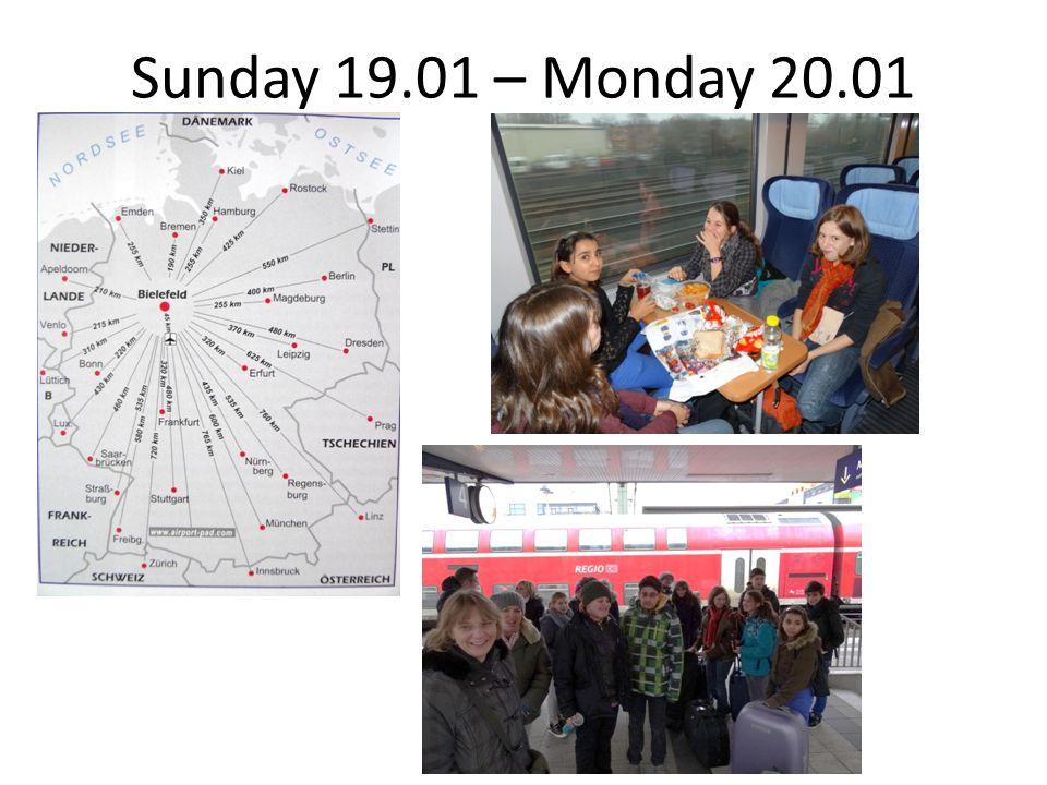 Sunday 19.01 – Monday 20.01