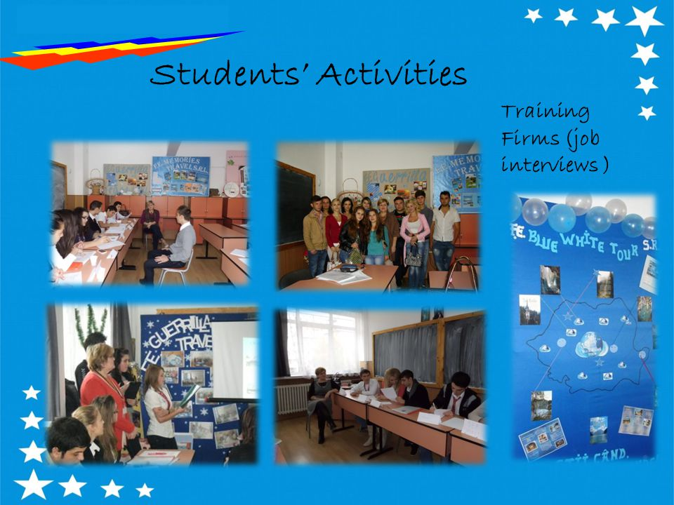 Students' Activities Training Firms (job interviews )