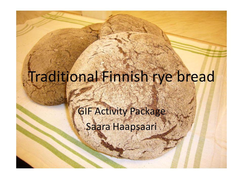 Traditional Finnish rye bread GIF Activity Package Saara Haapsaari