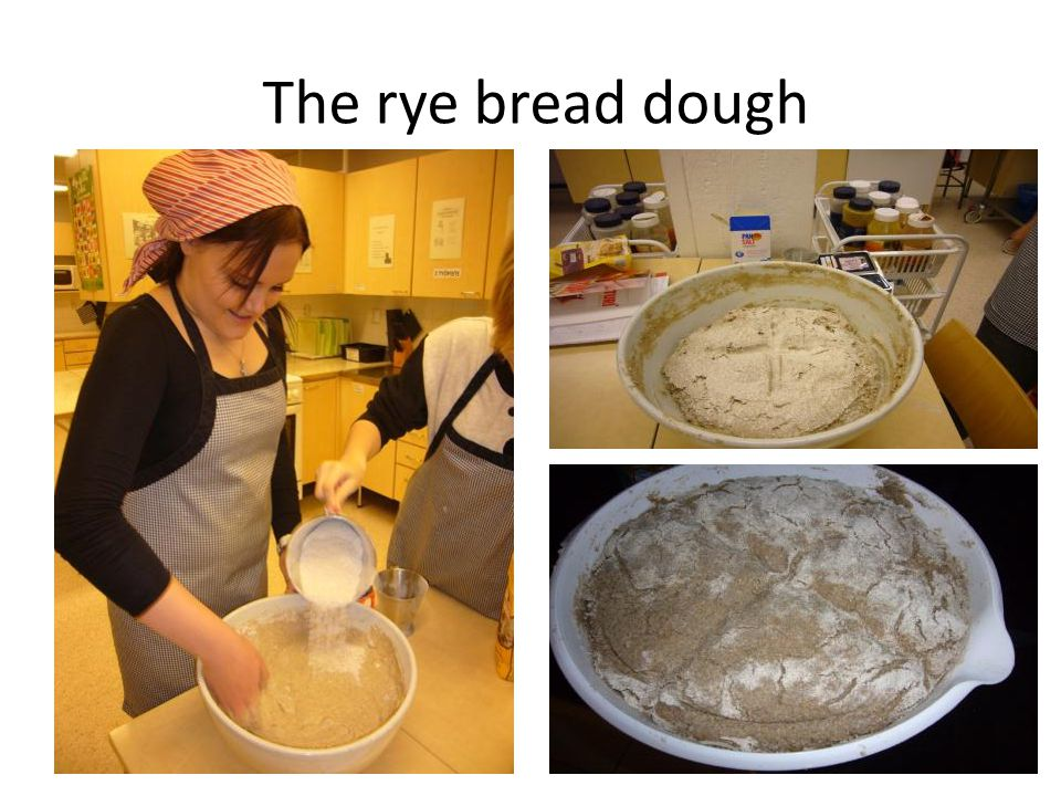 The rye bread dough