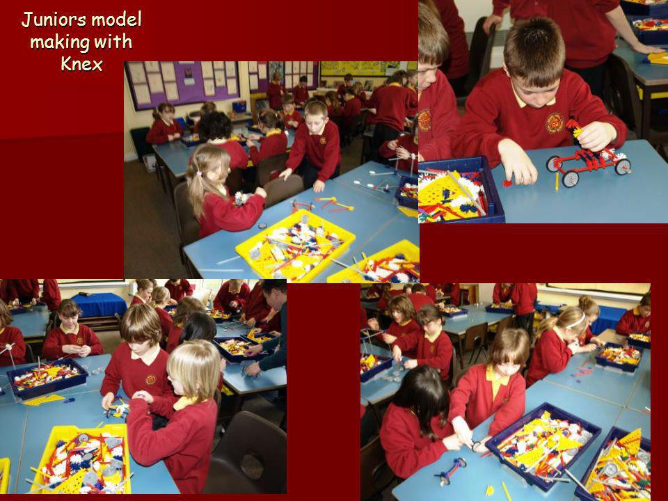 Juniors model making with Knex