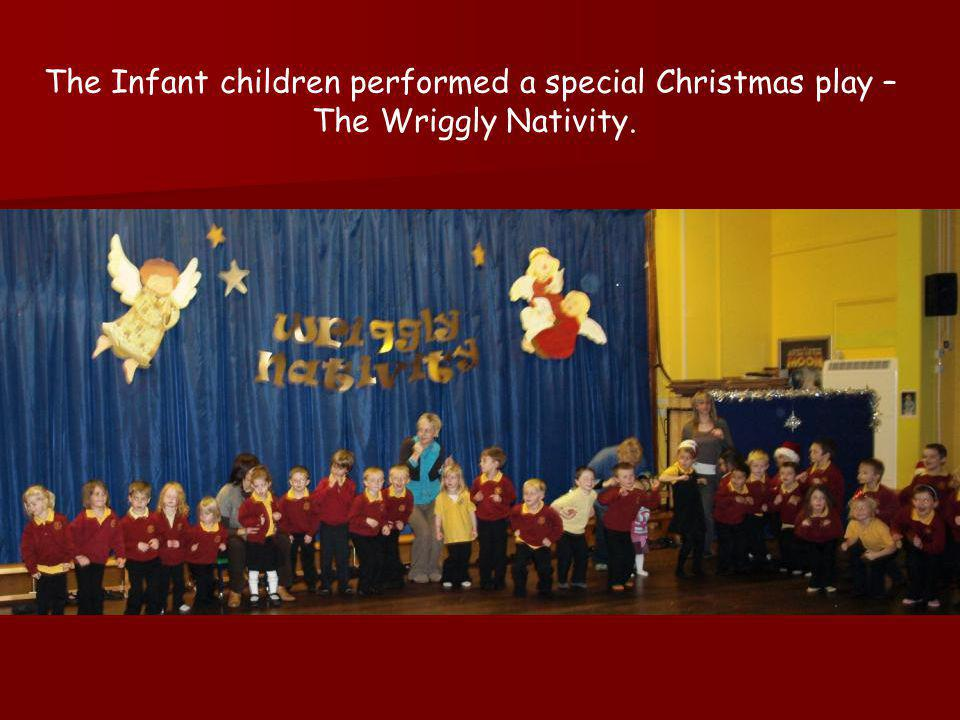 Some of the children performing in The Wriggly Nativity