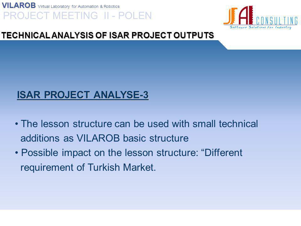 VILAROB VILAROB Virtual Laboratory for Automation & Robotics IMPORTANT NOTICE Impact of the training program on different target groups: Managers.