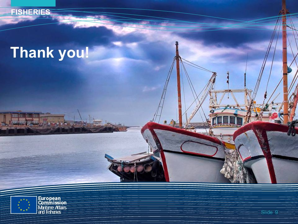 Slide FISHERIES 9 9 Slide Thank you! European Commission MaritimeAffairs andFisheries