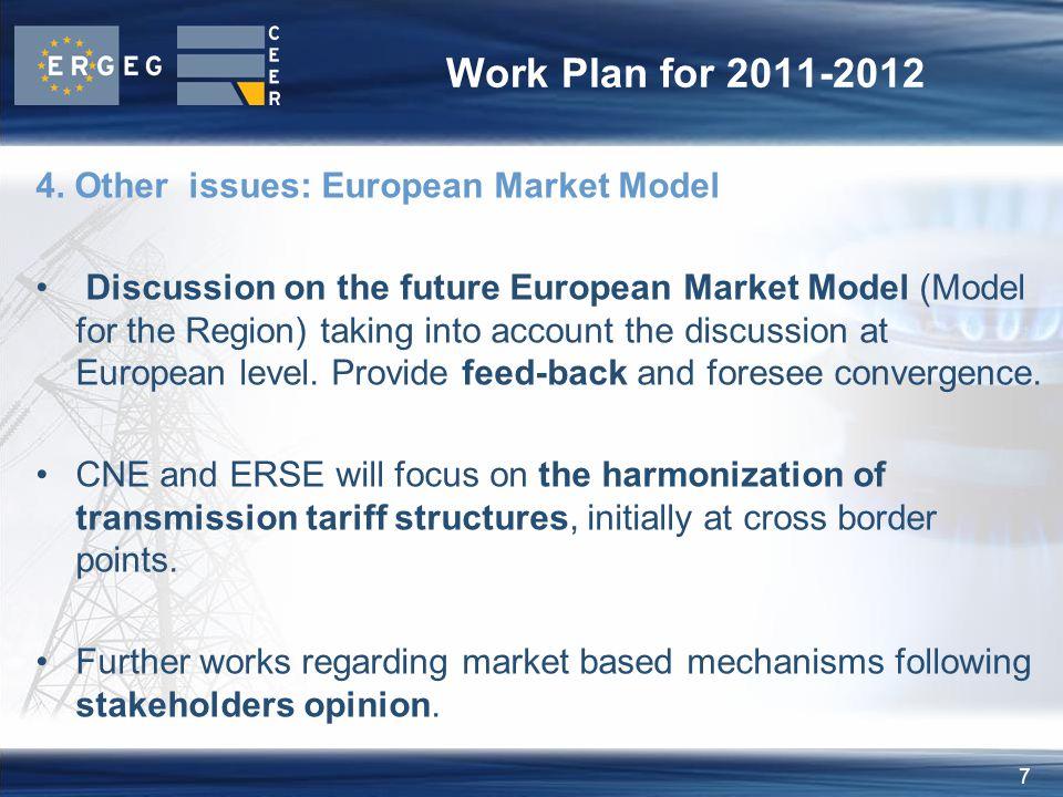 8 Work Plan for 2011-2012 Agenda
