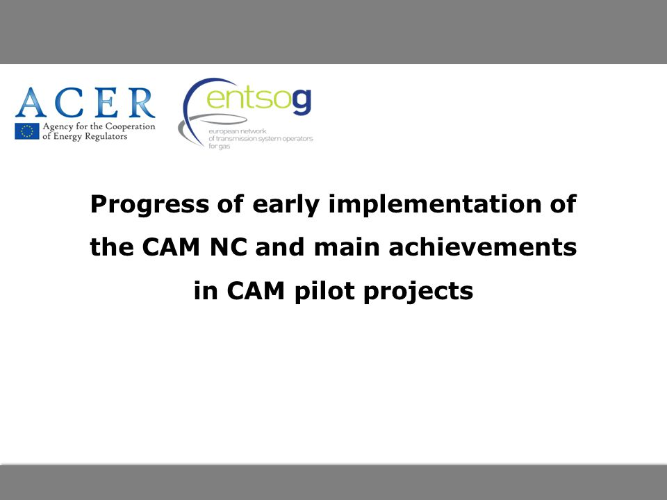 Progress of early implementation of the CAM NC and main achievements in CAM pilot projects