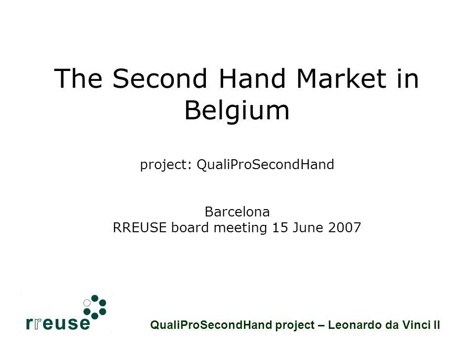 Second Hand market in Belgium - Sector Structure 1.