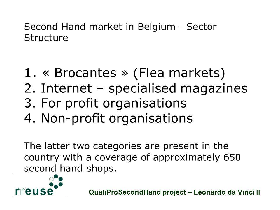 Brocantes - Flea Markets * Widely spread phenomenon with apx.