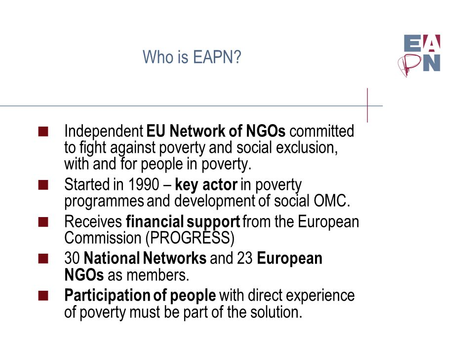 Who is EAPN.
