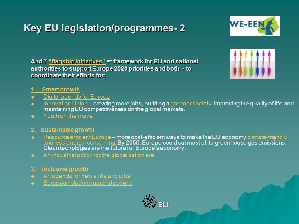 Key EU Funding - 3 Sector: Innovation and Research 1.
