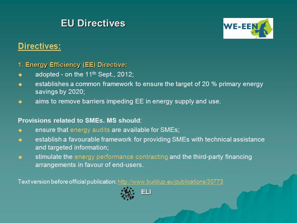 EU Directives - 2 2.