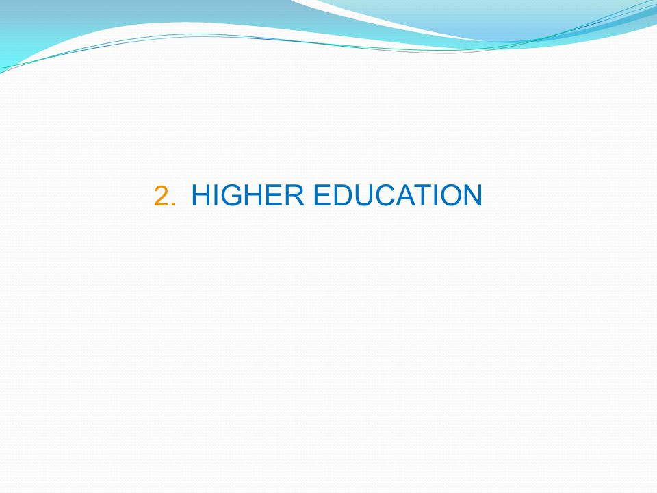 2. HIGHER EDUCATION