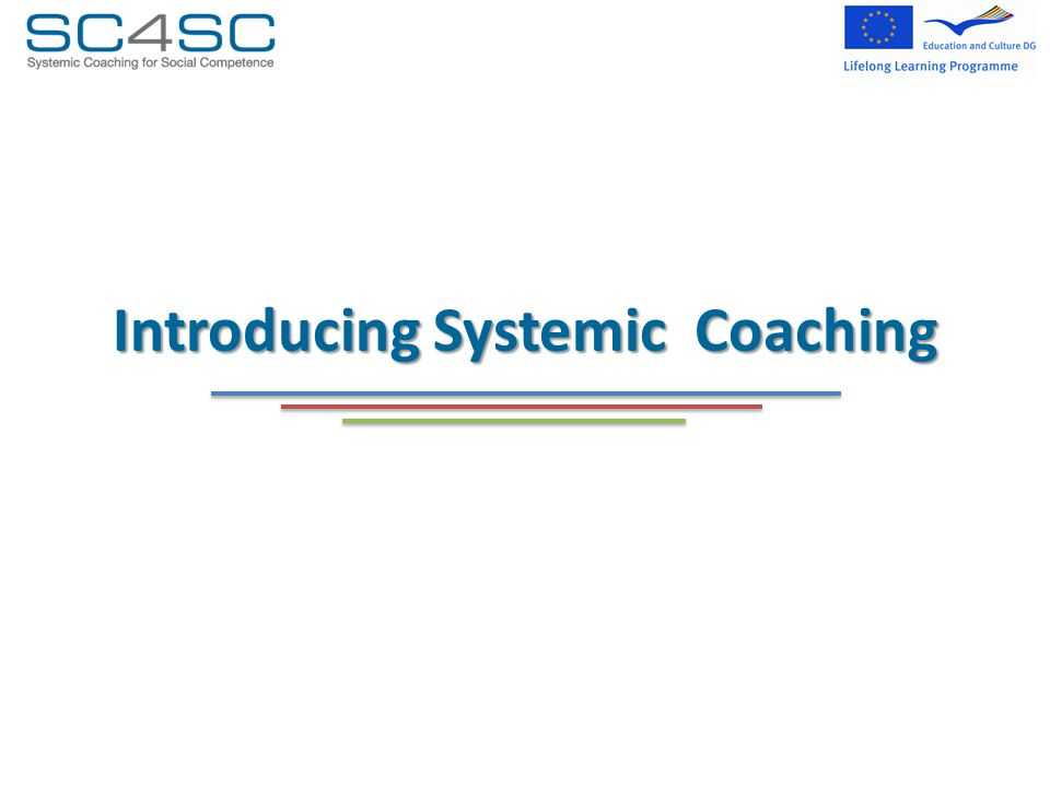 Introducing Systemic Coaching