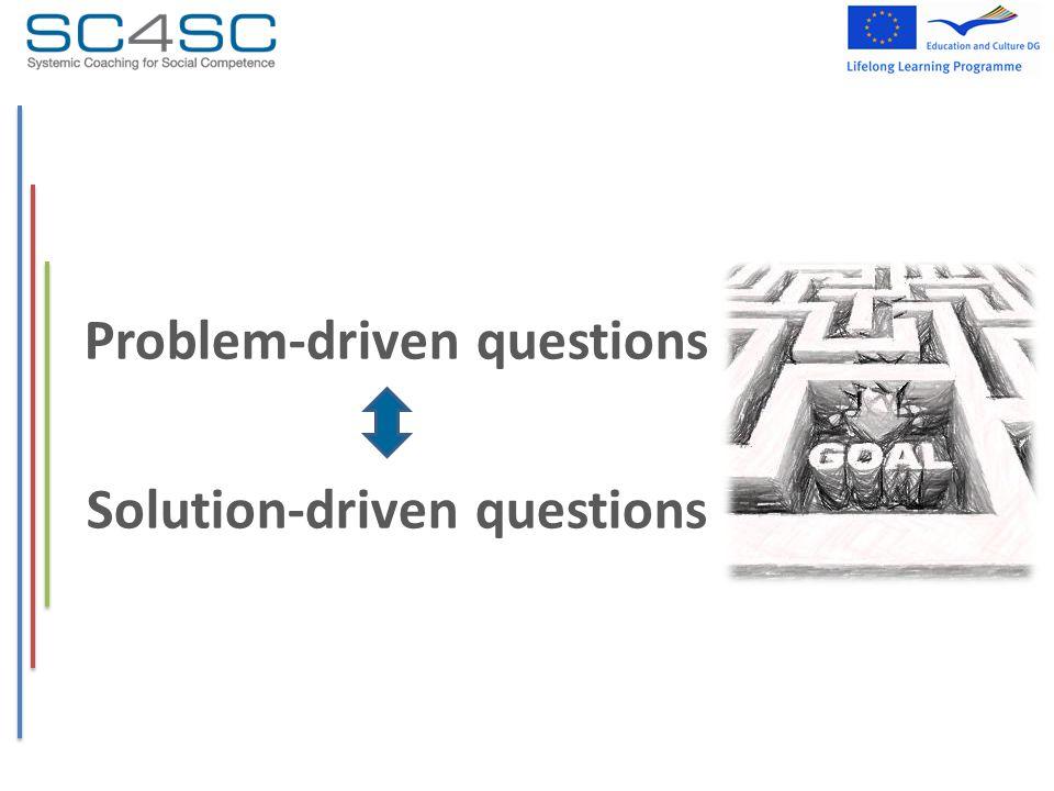 Problem-driven questions Solution-driven questions