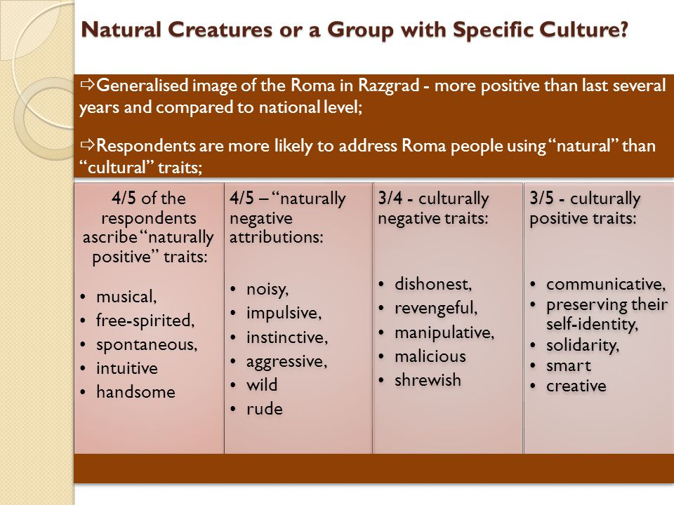 Natural Creatures or a Group with Specific Culture.
