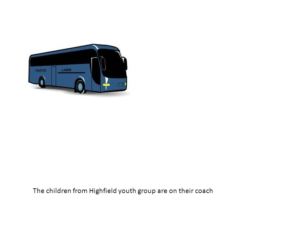 The children from Highfield youth group are on their coach