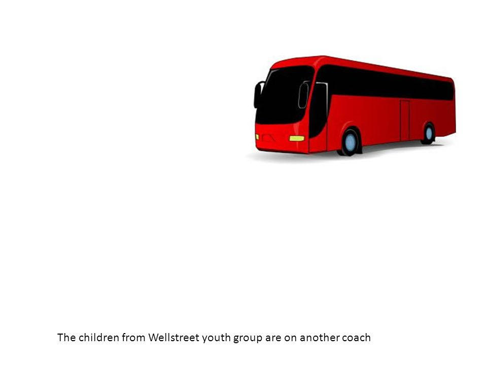 The children from Wellstreet youth group are on another coach