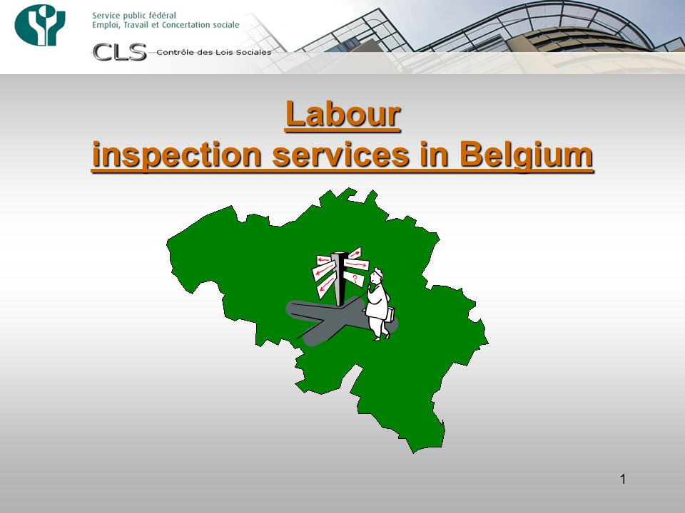 1 Labour inspection services in Belgium