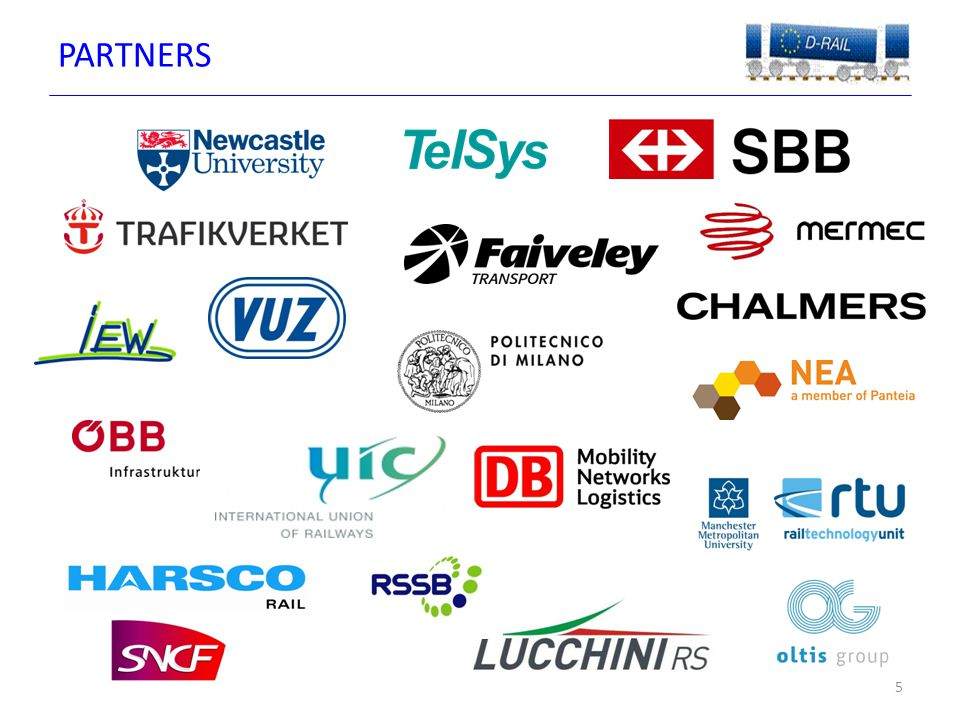 CONSORTIUM 6  Twenty partners from across Europe with a wide geographical representation  Partners include Infrastructure providers, operators, industry and academia Project is jointly co-ordinated by UIC and Newcastle University  Global project which includes International Railways (UIC), Russia (RZD) and USA (Harsco)  Many of our partners also have significant International rail experience outside the EU