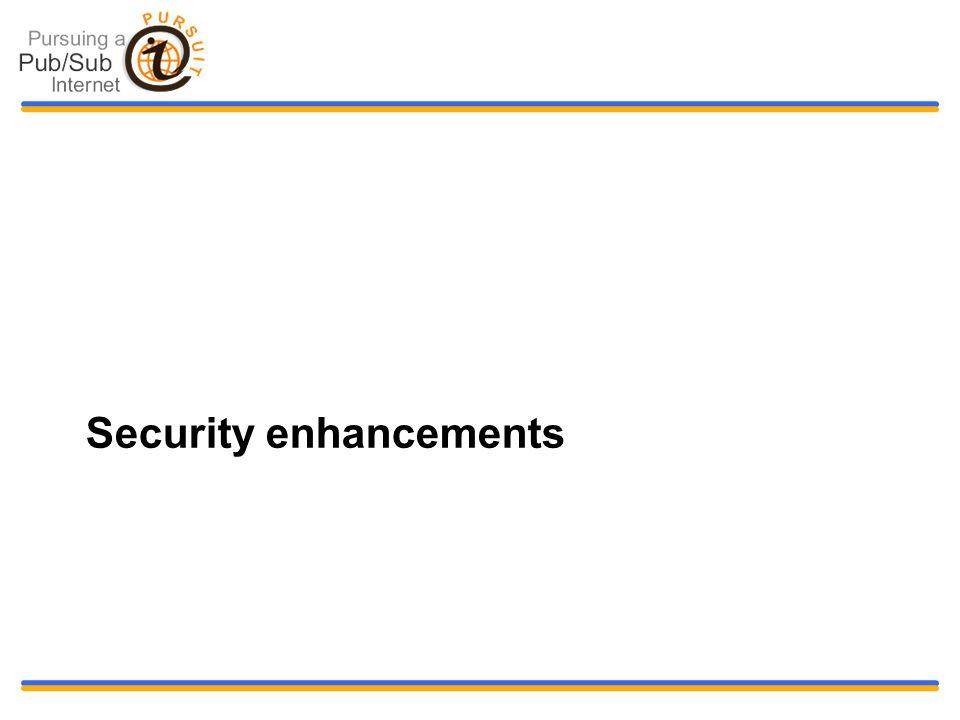 Security enhancements