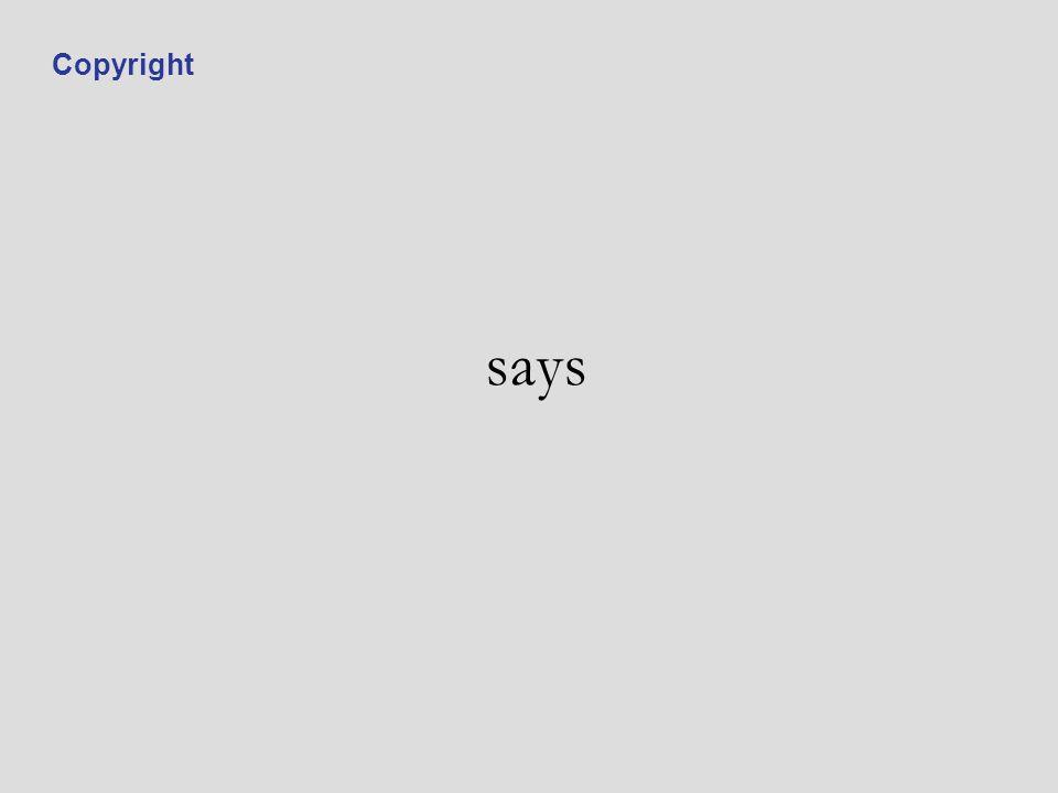 says Copyright