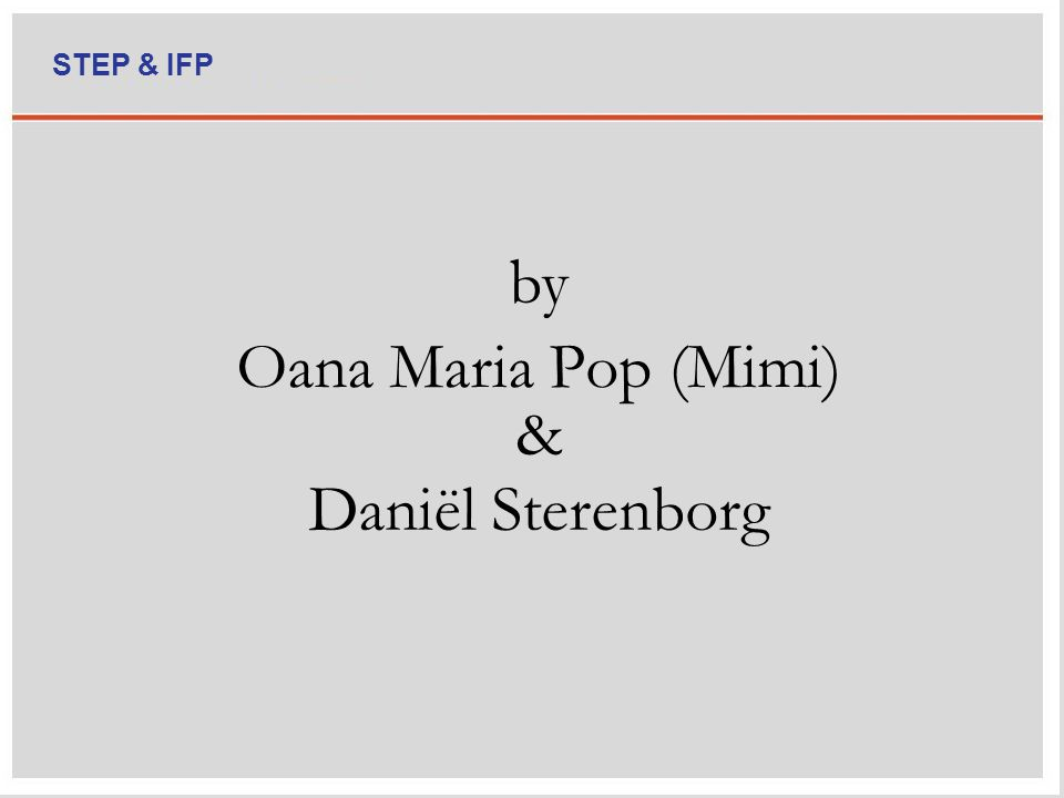 Oana Maria Pop (Mimi) by Daniël Sterenborg & STEP & IFP