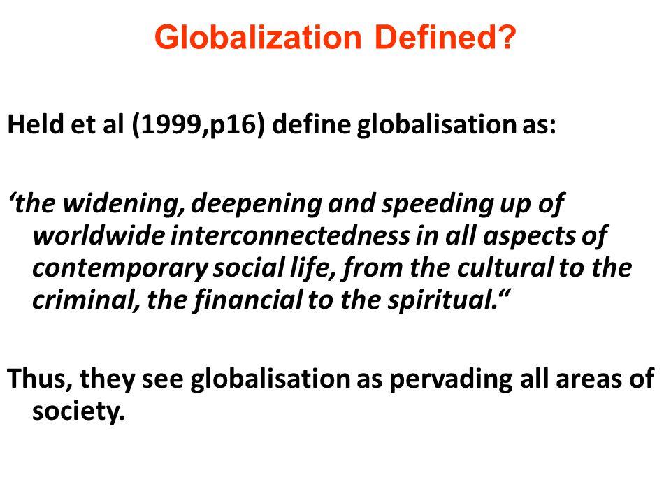 Globalization Defined.